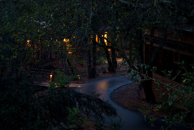 As night falls at Calistoga Ranch  This is one of the photos from my book on calistoga ranch.  You can see why I like that place.