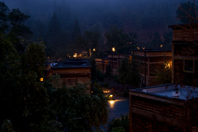 Night is falling at Calistoga Ranch