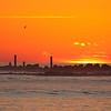 Tybee Island sunrise near jetties on North Beach