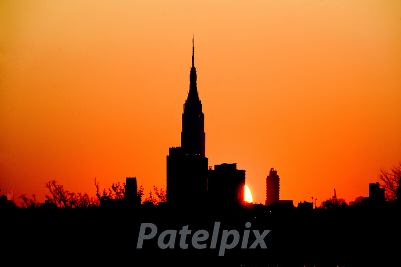 "Sunrise over Leona Helmsley's ""Empire""<br /> As seen from the Meadowlands in new Jersey.  2008"