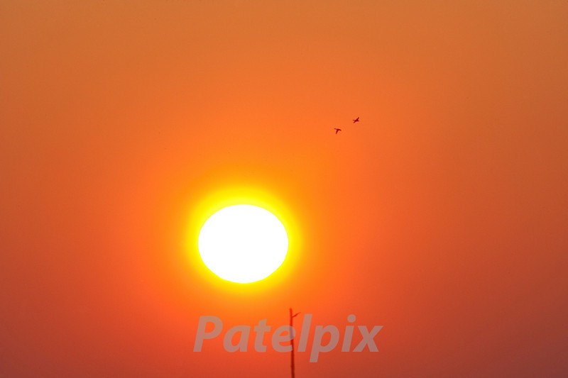 """""""Great balls of fire!""""<br /> Sunrise at Brigantine  ---  Forsythe NWR  ---  New Jersey.  2008"""