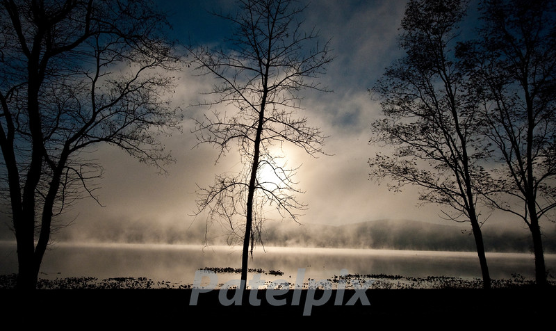 Morning Mist<br /> Rockland Lake, Nyack, New York, 2010