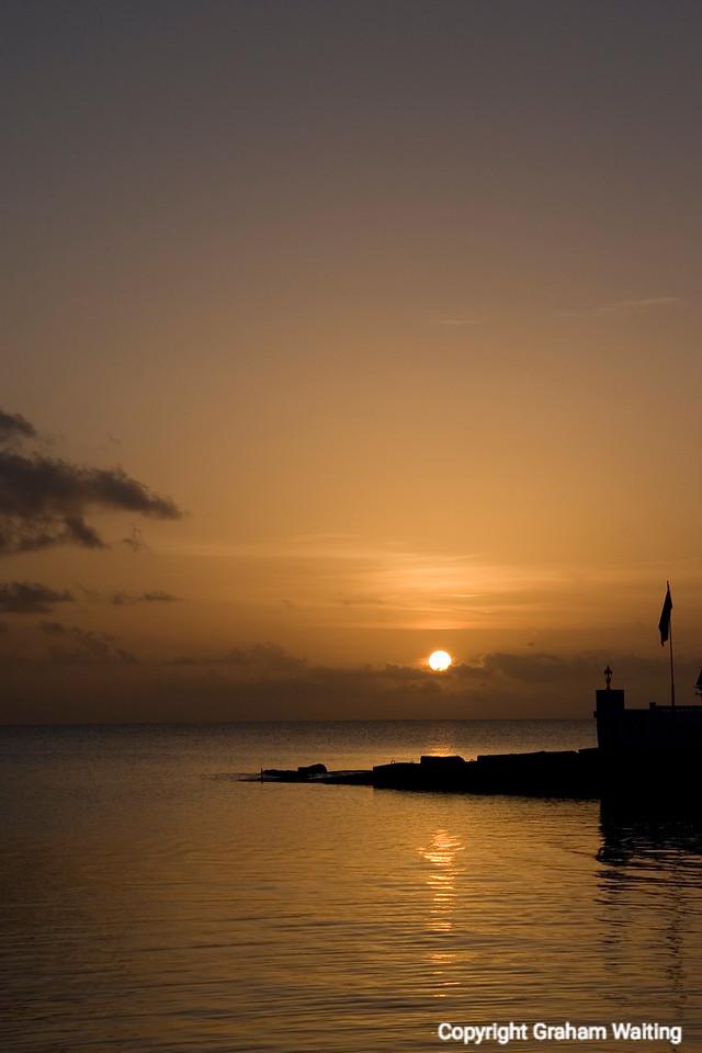 Sunset on New Providence Island, Bahama