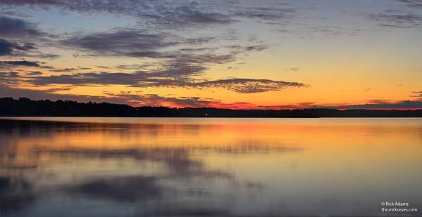 Sunrise Panorama at Percy Priest