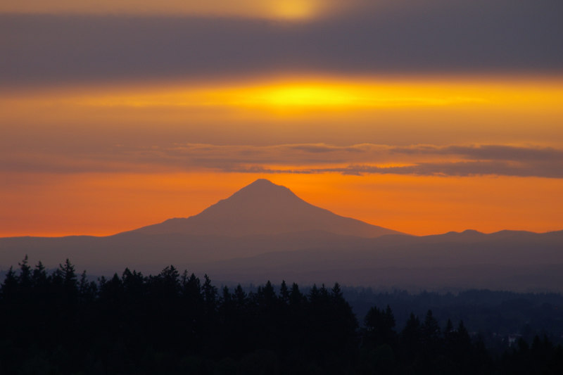 Mount Hood from West Salem in the Morning