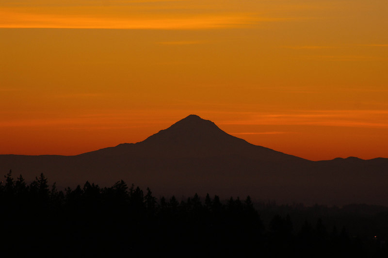 Mt. Hood with April 2006 Sunrise