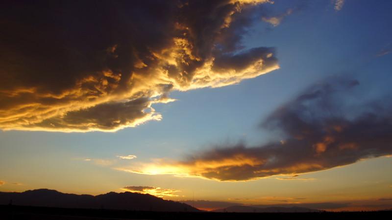 Friday, September 30, 2011. Sunrise over Tucson, Arizona USA
