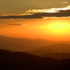 Sunset from Clingman's Dome, Great Smoky Mountains.