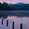 Sunrise over a lake near Marion, NC.