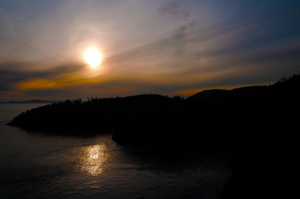 Sunset<br /> Deception Pass, Oak Harbor, Whidbey Island, Washington