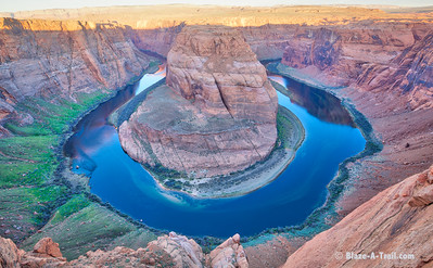 Sunrise at Horseshoe Bend, Page AZ   For more information, visit my blog:  http://blaze-a-trail.blogspot.com/2016/04/horseshoe-bend-page-az-memorable-sunrise.html