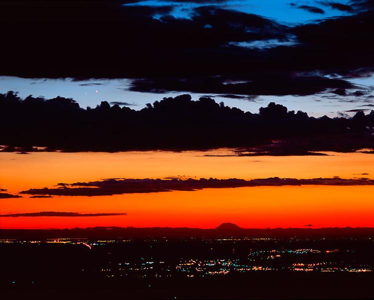 Venus and Saturn conjunction, Columbia Basin, Oregon