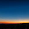 Sunset over Ritter Butte; Crescent Moon