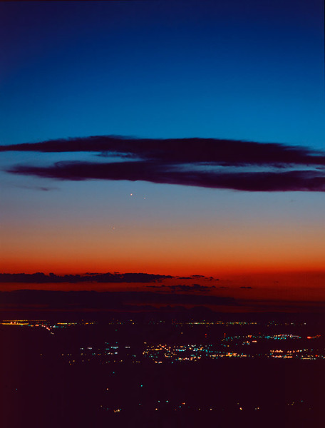 Mercury, Venus, and Saturn conjunction, Columbia Basin, Oregon