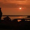 Sunset over Roskilde Fjord,<br /> Denmark