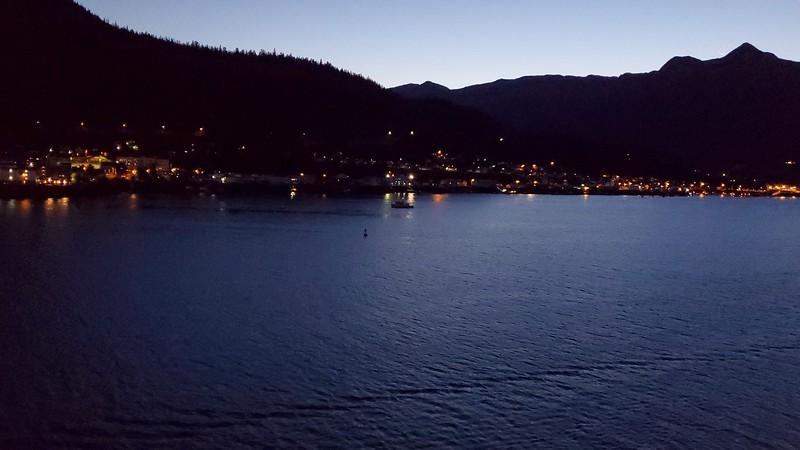 Arriving in Ketchikan, Alaska near daybreak