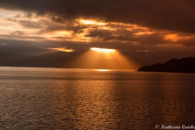 Sunrise Over Wellington Harbour