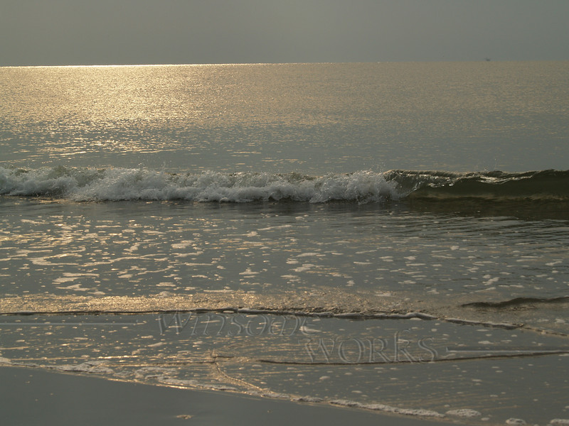Sparkling sea in sunrise; Hunting Island, SC