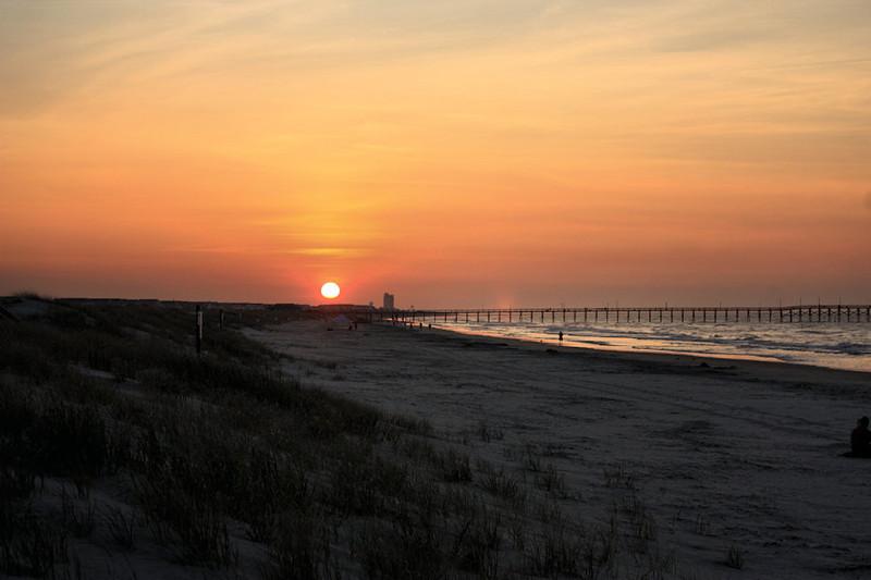 Sunrise Sunset Beach NC July 29 2011