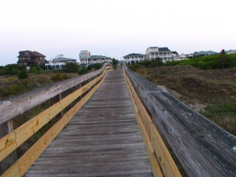 a look back over the 40th St Dunes walkway