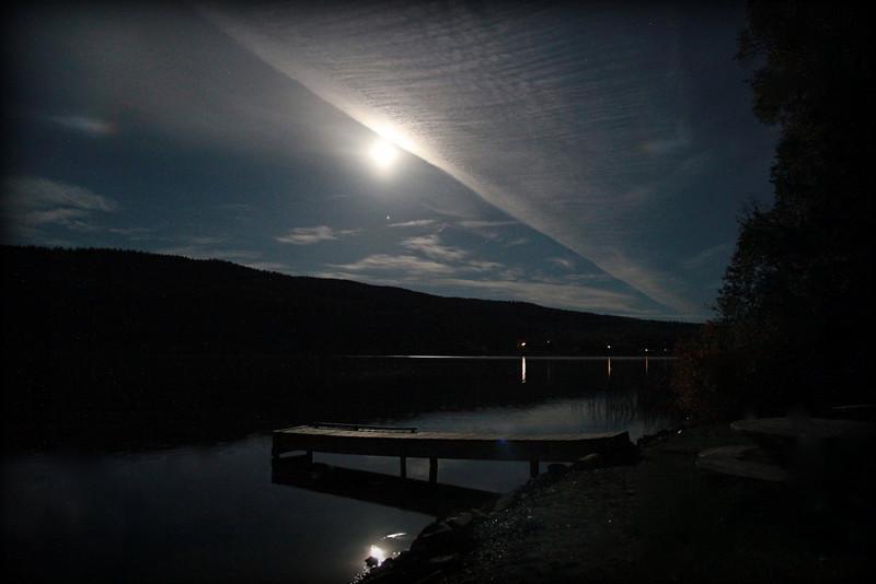 Dragon Lake under a full moon