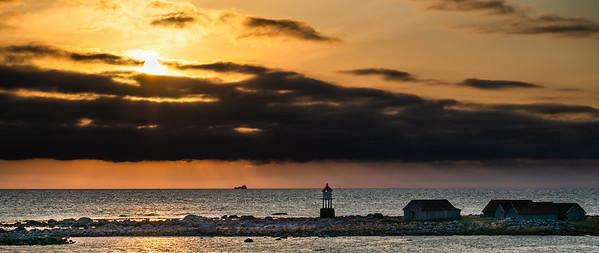 Sunset from Hå Gamle Prestegård