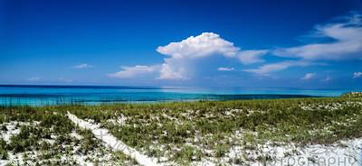 Blue over dunes