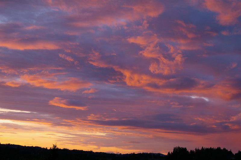 Salem - West Hills Clouds @ Sunset