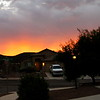 Desert sunset is amazing in colors and shapes.... This was taken on September 26, 2011