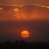 Sunset over the Pima Cotton fields in Marana Arizona.