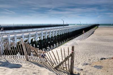 De pier in Nieuwpoort. HDR bewerking
