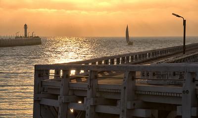 De pier in Nieuwpoort