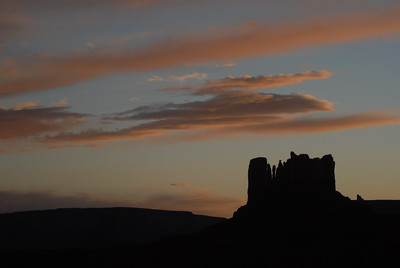 © Joseph Dougherty.  All rights reserved.   Dusk in Monument Valley, Arizona.