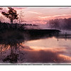 A sunrise over a swamp near Pensacola, Florida