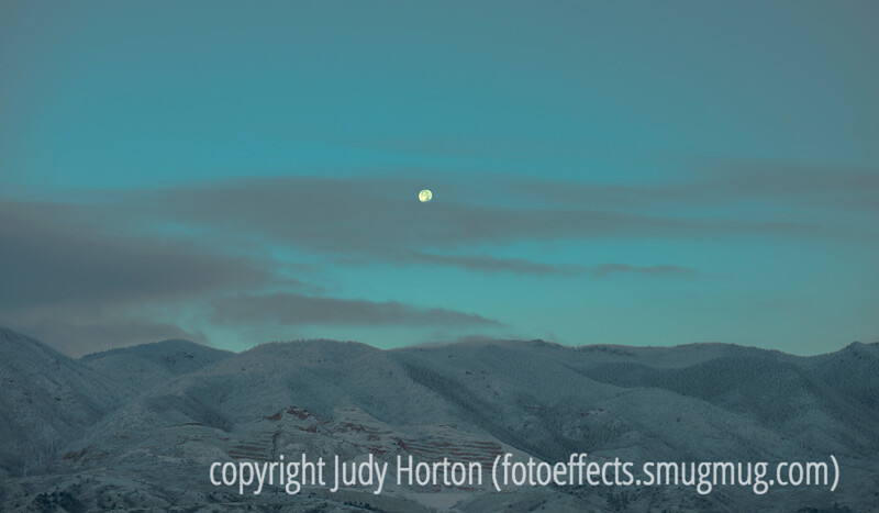 Full Moon Setting Over Colorado's Front Range