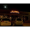 Moon rises over PF Chang's restaurant