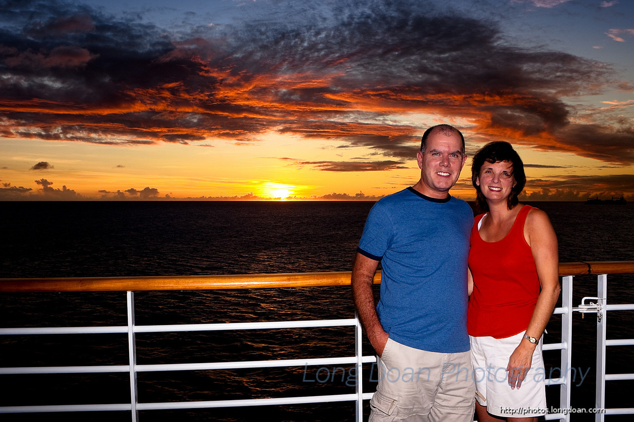 Sunset on a cruise near Barbados.