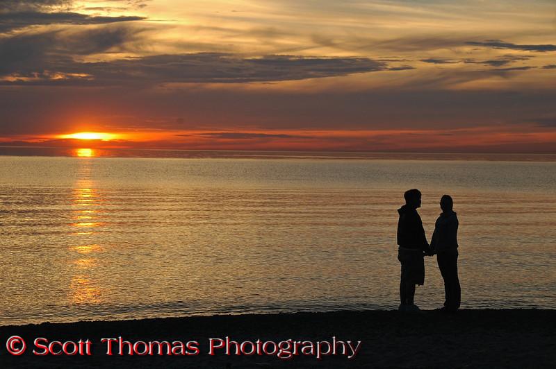 Romantic sunset.