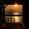 Sunset at the weigh station at Lake Dardanelle State Park, Arkansas.