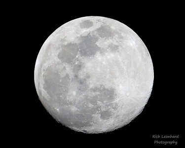 Almost full Moon on 03-19-19.