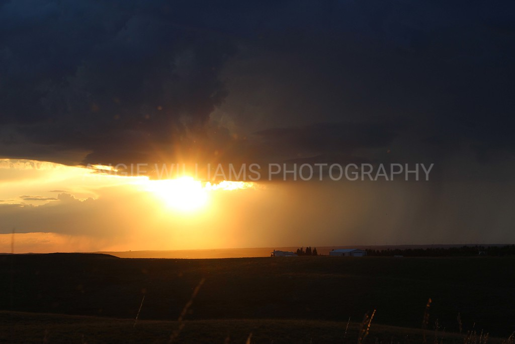 Stormy Sunset in Montana