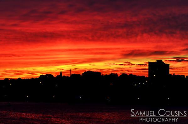 Sunset over Munjoy Hill