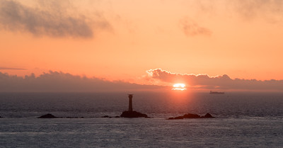 Sunset over Longships Lighthouse