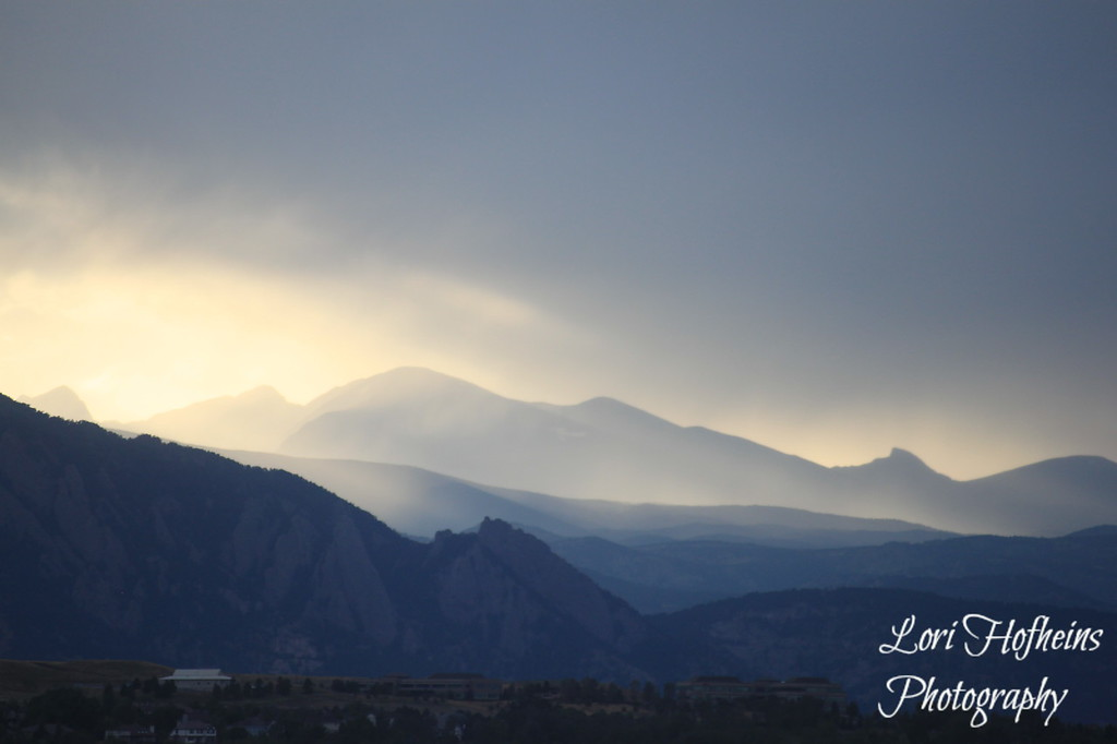 The Rocky Mountains in Denver, CO.