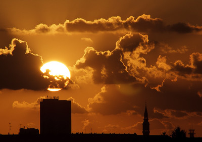 Sunset over Copenhagen