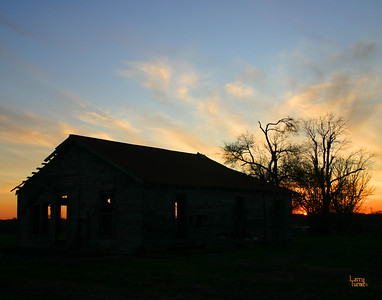 Sunset at  an Abandoned Sharecropper Home 2009