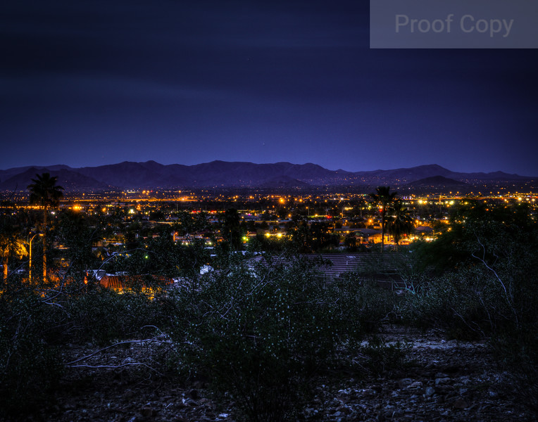 Twilight's Glow Over North Phoenix