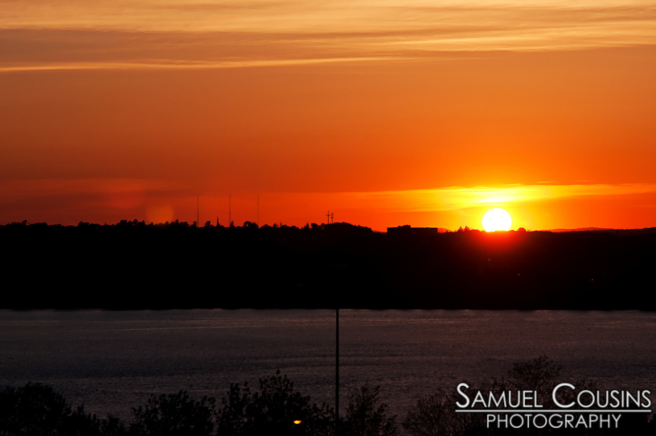 Sunset over Back Cove in Portland, Maine. Taken from Fort Sumner Park.