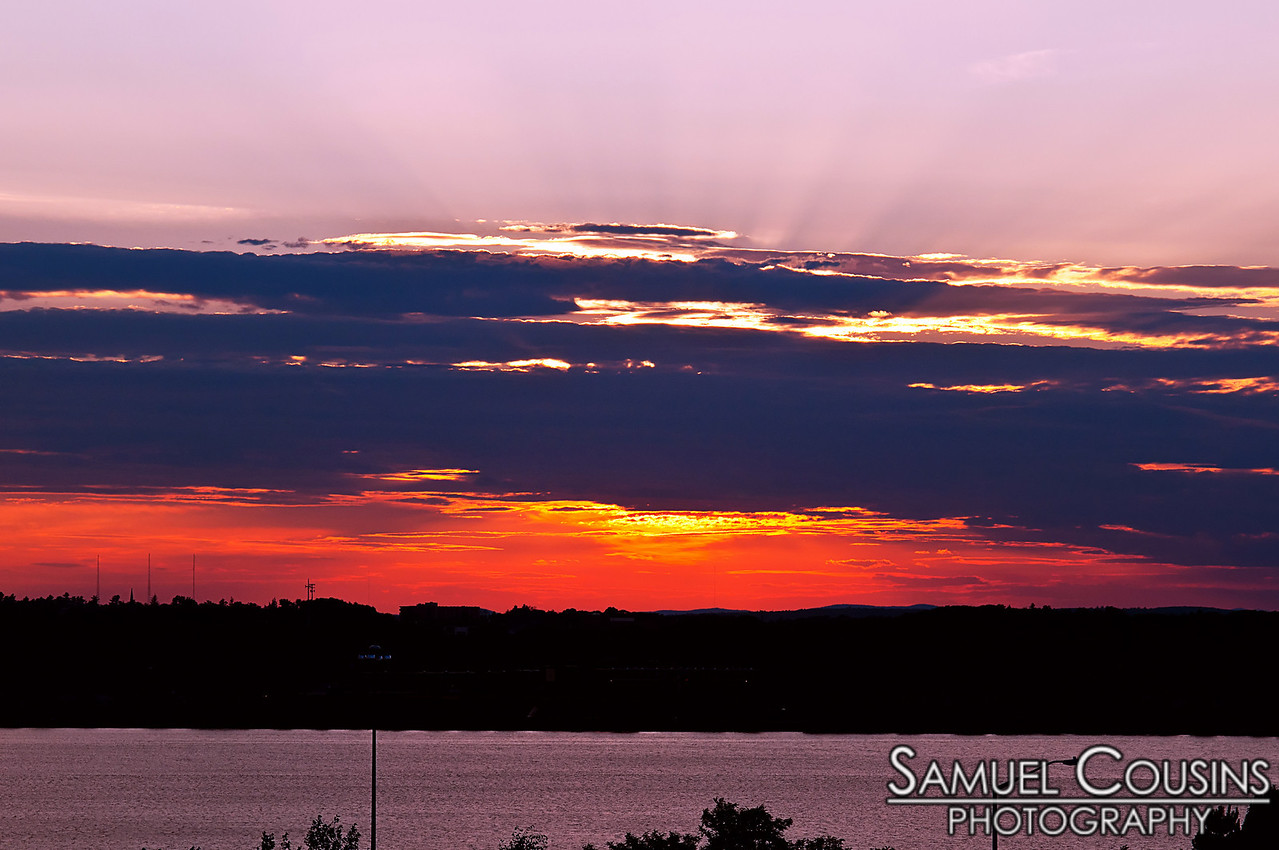 Sunset over Portland, Maine and Back Cove. Taken from Fort Sumner Park.