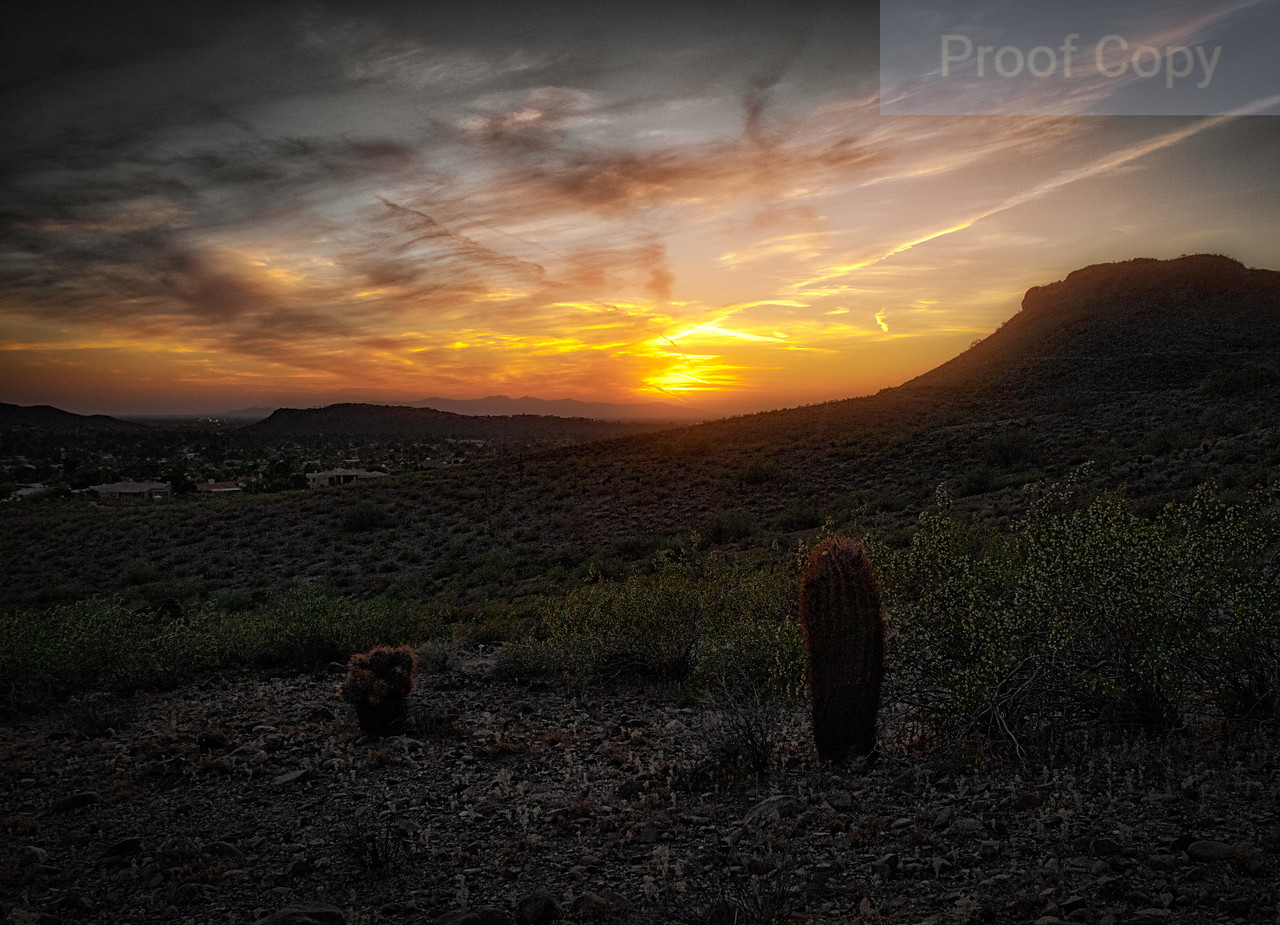 Sunset Over West Phoenix From Lookout Mountain